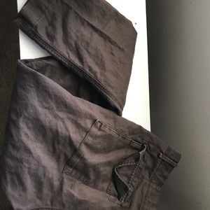 Banana republic linen pants brown
